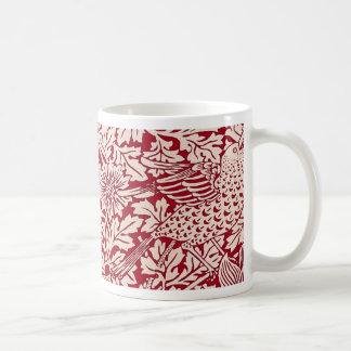 Pájaro y anémona de William Morris Taza De Café