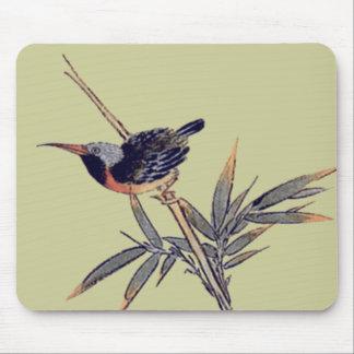 pájaro y bambú 2 alfombrillas de ratón