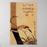 Pájaro y bambú, c.1830, póster