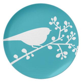 Pájaro y bayas de la MOD del trullo solo {escoja s Plato