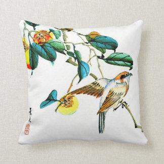Pájaro y caquis 1892 almohada