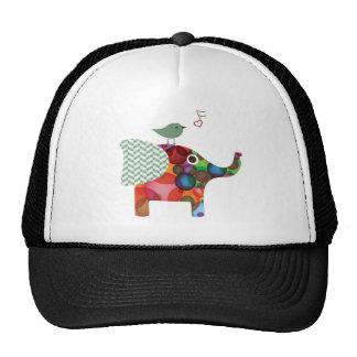 Pájaro y elefante gorra