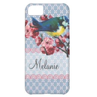 Pájaro y flor de cerezo azules personalizados