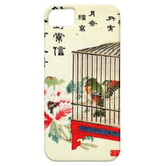 Pájaro y flor enjaulados 1870 funda para iPhone SE/5/5s