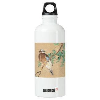 Pájaro y flor, eurasiático Jay y chino Arborvit