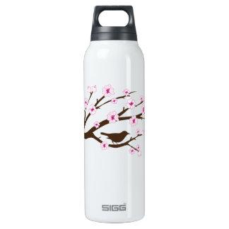 Pájaro y flores de cerezo