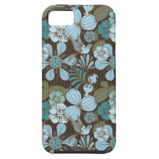 Pájaro y flores tropicales exóticos iPhone 5 Case-Mate protectores