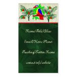 Pájaro y flores tropicales tarjetas de visita