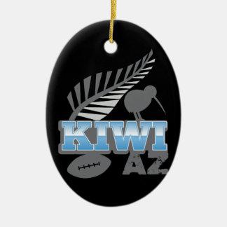 Pájaro y helecho de plata Nueva Zelanda del rugbi
