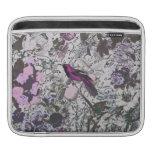 Pájaro y impresión floral púrpuras del vintage con manga de iPad