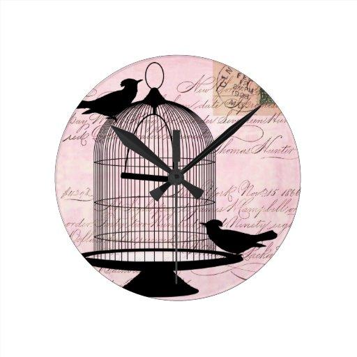 Pájaro y jaula Steampunk Relojes