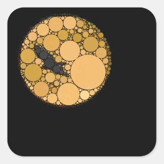 Pájaro y luna abstractos modernos pegatina cuadrada