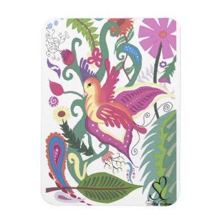 Pájaro y Paisley florales coloridos Imanes De Vinilo