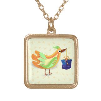 Pájaro y regalo, collar