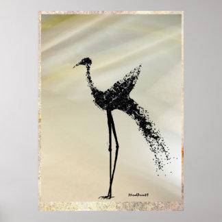 Pájaro zanquilargo poster