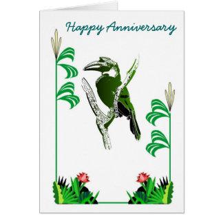 Pájaros 19 del aniversario tarjeta de felicitación