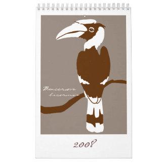 Pájaros 2008 calendario