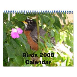 Pájaros 2008Calendar Calendarios