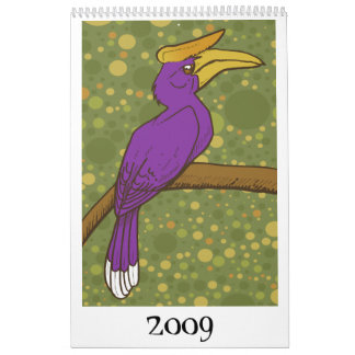 Pájaros 2009 calendario de pared