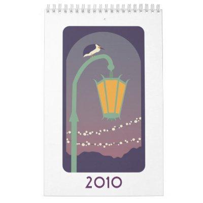 Pájaros 2010 calendario de pared