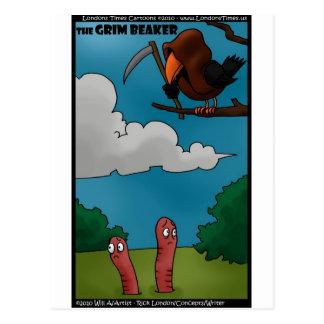 Pájaros a los gusanos los regalos divertidos y las tarjeta postal