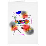 pájaros abstractos tarjeta de felicitación
