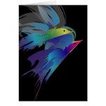 Pájaros abstractos tarjeton
