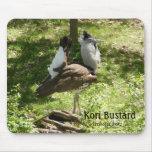Pájaros africanos: Bustard de Kori Alfombrilla De Ratón