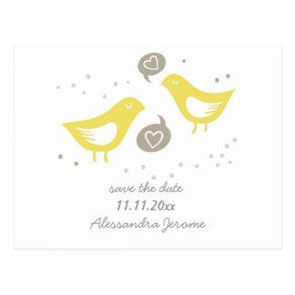 pájaros amarillos que hablan del amor std horizont tarjetas postales