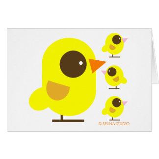 Pájaros amarillos tarjeta de felicitación