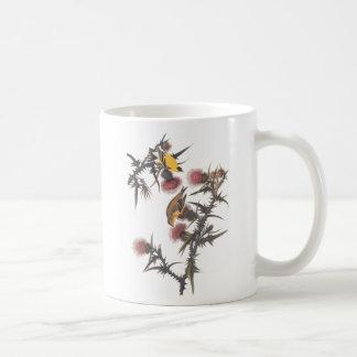 Pájaros americanos de Audubon del Goldfinch de Taza De Café