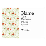 Pájaros anaranjados caprichosos elegantes en ramas tarjeta personal