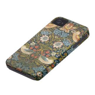 Pájaros antiguos de las flores de William Morris iPhone 4 Case-Mate Funda