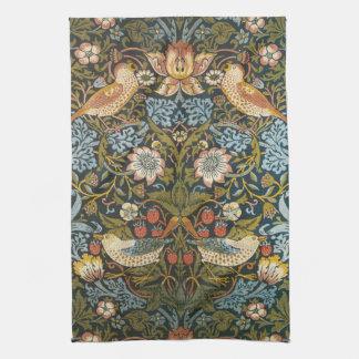 Pájaros antiguos de las flores de William Morris Toallas