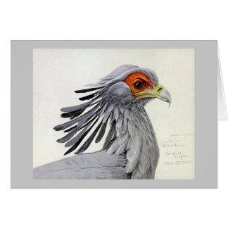 Pájaros Arte-Abisinios 19 de Chicago del Notecard- Tarjeta Pequeña