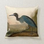 Pájaros azules de la garza de la grúa de Audubon d Almohadas