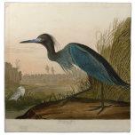 Pájaros azules de la garza de la grúa de Audubon d Servilleta De Papel