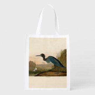 Pájaros azules de la garza de la grúa de Audubon d Bolsas Para La Compra