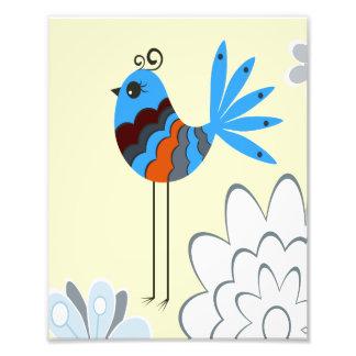 Pájaros azules decorativos modernos impresiones fotograficas
