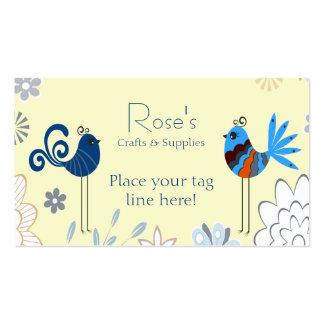 Pájaros azules decorativos modernos tarjetas de visita