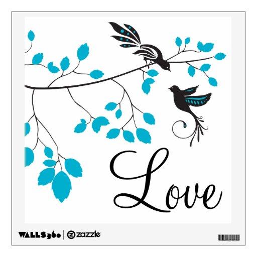 Pájaros azules del amor