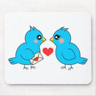 Pájaros azules del amor tapetes de ratones