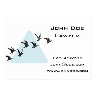 Pájaros azules del triángulo tarjetas de visita grandes