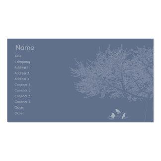 Pájaros azules - negocio tarjeta de negocio