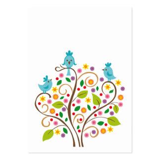 Pájaros azules tarjetas de visita
