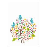 Pájaros azules tarjetas de visita grandes