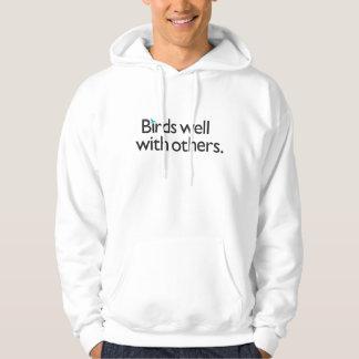 Pájaros bien con otros jersey encapuchado