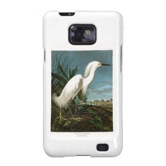 Pájaros blancos de Audubon del Egret de la garza Galaxy SII Fundas