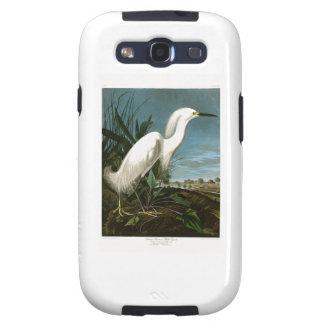 Pájaros blancos de Audubon del Egret de la garza Galaxy S3 Cobertura