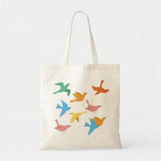 pájaros bonitos bolsas lienzo